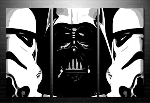 Star Wars wall art, starwars canvas, movie art uk, large star wars canvas, star wars painting