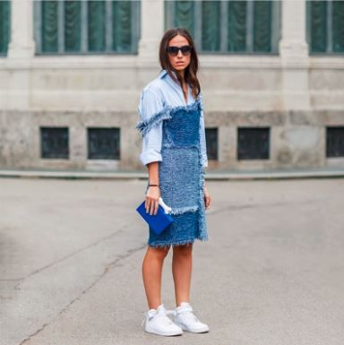 #MMissoni   PATCHWORK DENIM DRESS in #LimitedEdition   Spring 2105 Collection #MustHave   #MFW   by My Free Choice Blog   Erika Boldrin