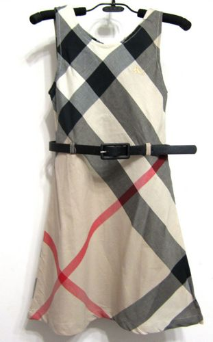 FREE SHIPPING Burberry Plaid Girls Dress with Belt, 3 colors 3T-12 y | EmeseBoutique - Children's on ArtFire