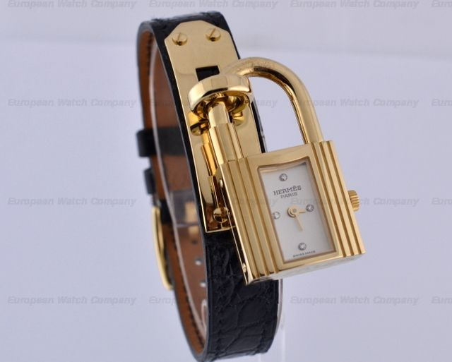 European Watch Company: Hermes Hermes Kelly Solid 18K Yellow Gold ...