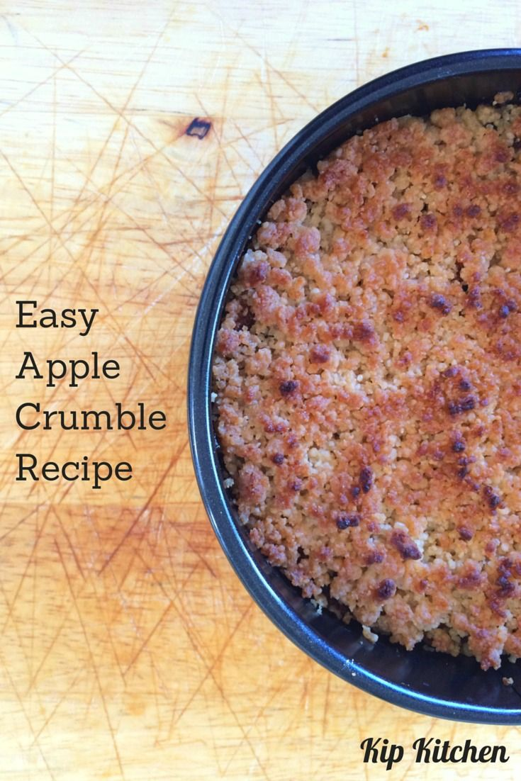Want an easy apple crumble recipe that reveals my grandma's secret topping recipe? Read on to learn how to make this dessert from scratch with fresh apples. http://kipkitchen.com/apple-crumble-recipe-easy/ #apple #food #foodporn