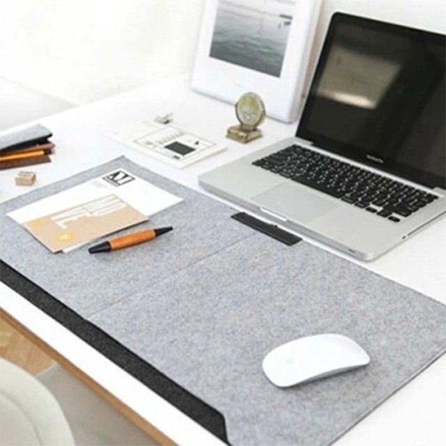 "I think I could make this ""fancy"" felt desk mat..."