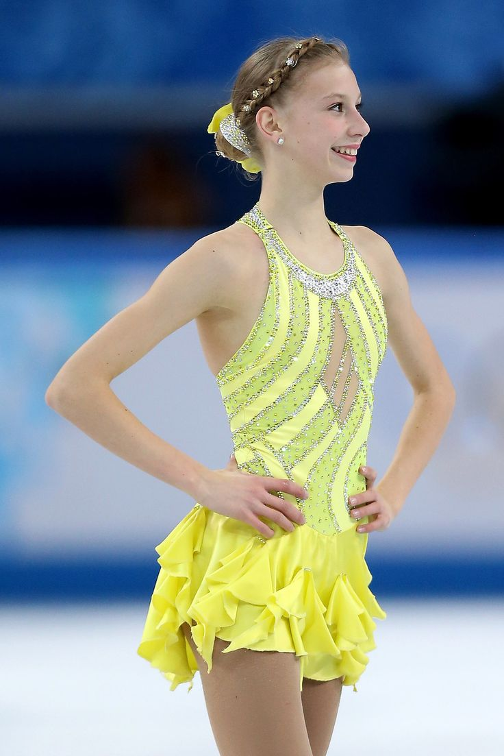 The youngest member of the USA Olympic skating team, Polina Edmunds, went for bold brights with her jewel-laden braid. #Sochi2014