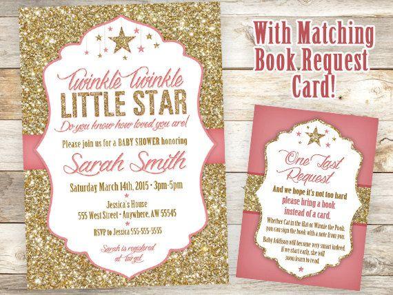 Twinkle Twinkle Invitation Little Star by JustRightDesigns954