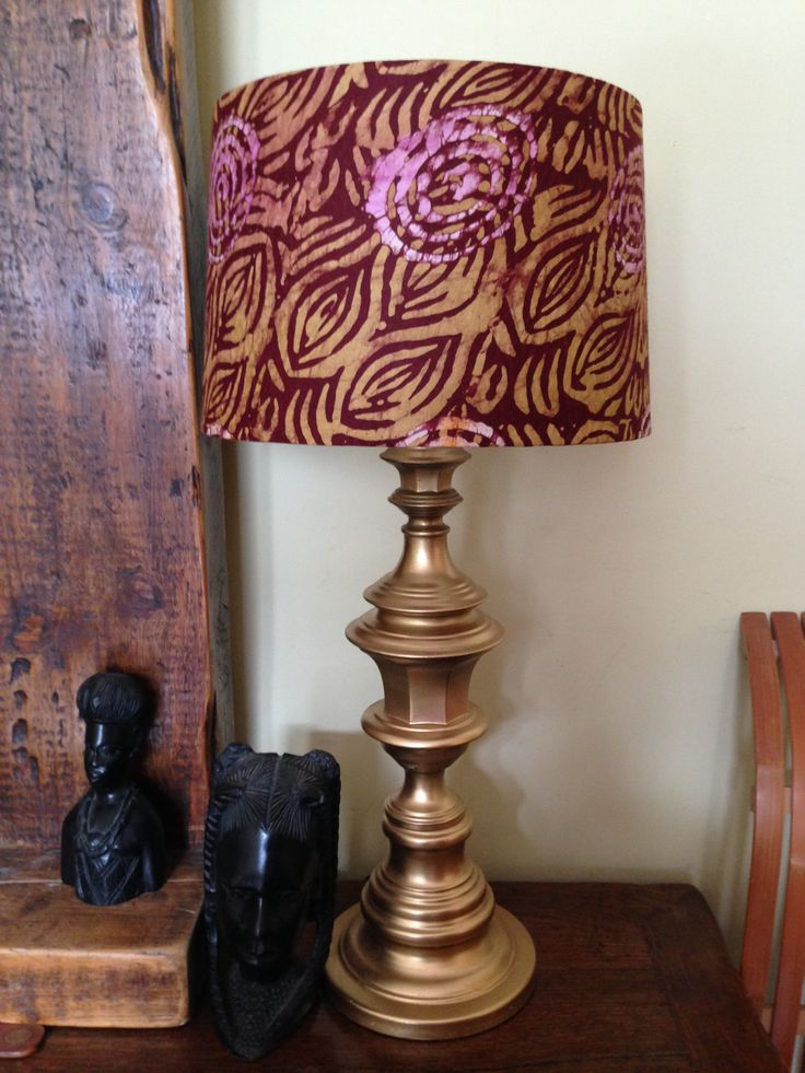 14 best african lampshades images on pinterest african prints african fabric lampshade sonia annabel aloadofball Choice Image
