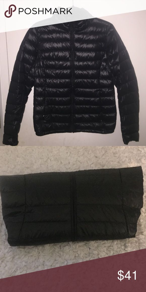 Uniqlo Down Jacket (puffer!) LIKE NEW CONDITION - work once! Ultra lightweight and easy for packing since it can be folded to take up such little space (as seen in 2nd picture) Uniqlo Jackets & Coats Puffers