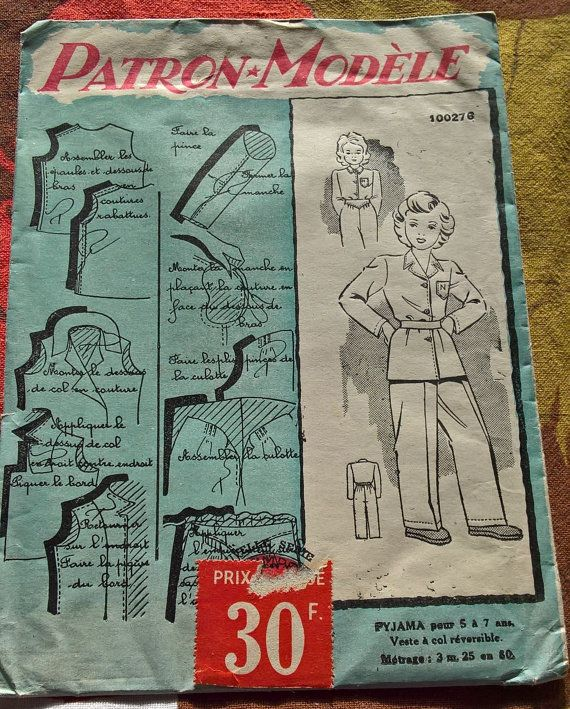 40's french vintage sewing pattern