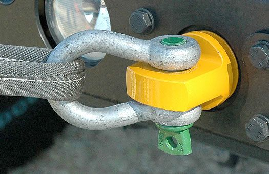 off-road aluminum bumpers, recovery gear, rotator shackle mount