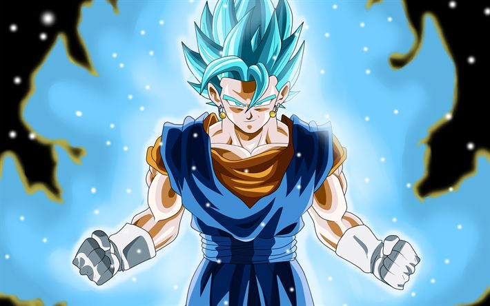 Download wallpapers 4k, Super Saiyan Blue, art, manga, Dragon Ball Super, DBS, Dragon Ball