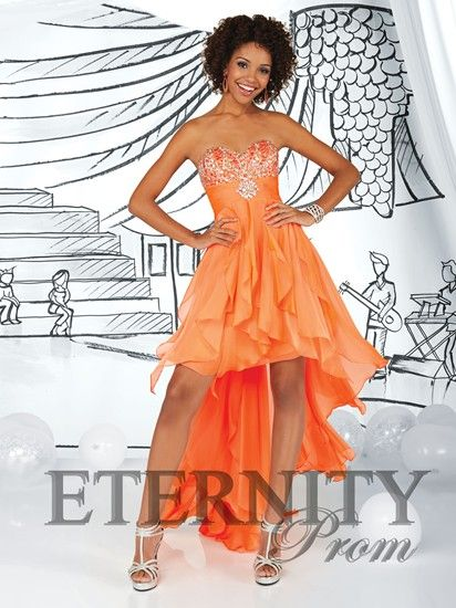 84 best images about Orange/Peach Prom Dresses on Pinterest ...