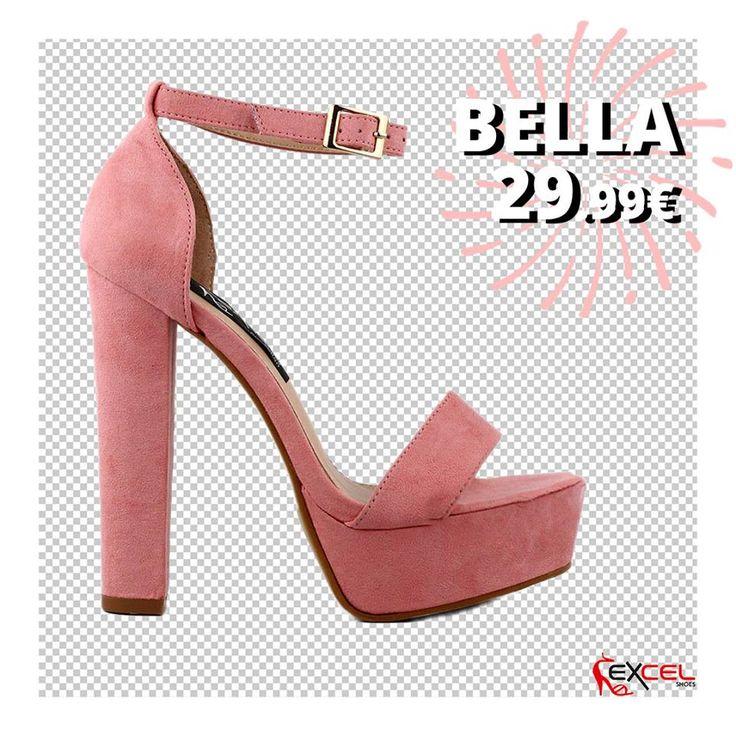 Top Heels! Bella 29.99€ #excelshoes #ss17 #spring #summer #2017 #shoes #women #womenfashion #heels #thessaloniki #papoutsia #gunaika #παπουτσια #moda