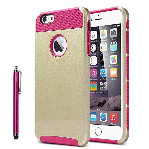 iPhone 6 Plus Case, ULAK 2-Piece Style Hybrid Case for Apple iPhone 6 Plus 5.5 inch Hard Cover with Free Screen Protector and Stylus (Gold+Magenta) ULAK http://www.amazon.com/dp/B00PH41M6A/ref=cm_sw_r_pi_dp_9EVCub0GWG6QH