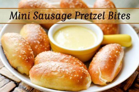 Mini Hot Dog Pretzel Bites | Picture the Recipe