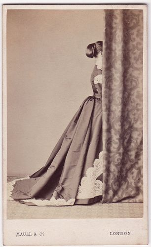 This collection of photographs on Flickr has a great subset of pictures taken with the back to the camera/the face obscured.  The Library of Nineteenth-Century Photography, via Flickr