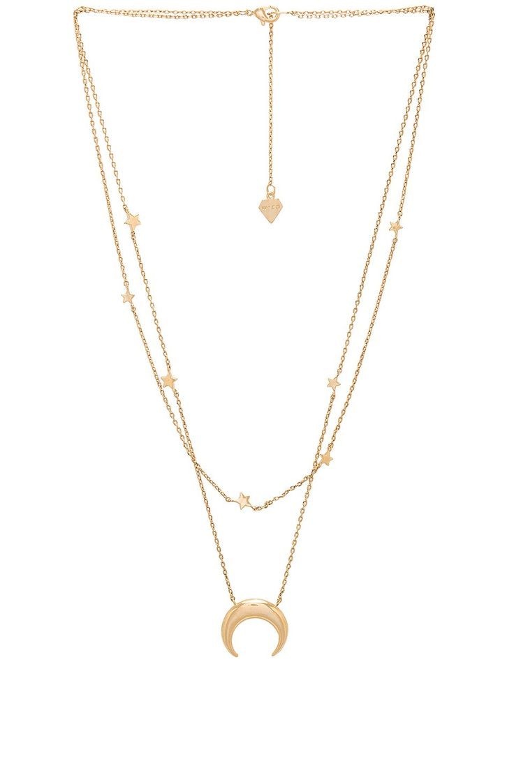 Wanderlust + Co Mrs Necklace in Metallic Gold