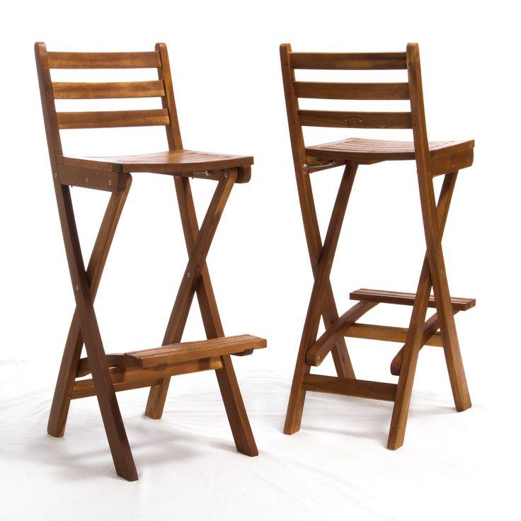Tundra Foldable Outdoor Wood Barstool | from hayneedle.com  sc 1 st  Pinterest & Best 25+ Foldable bar stools ideas on Pinterest islam-shia.org