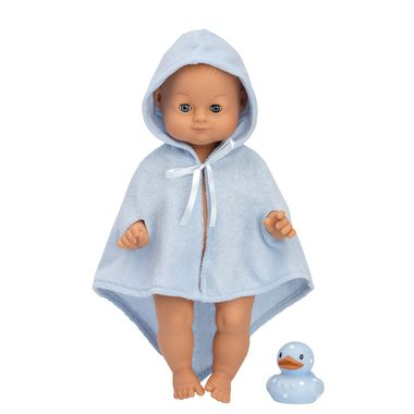 NEW! Our popular bath time doll David loves water! Take off his soft blue dressing gown to bathe your lovely baby doll and don't forget his sweet little rubber duck. Skrallan David doll is water resistant and closes his eyes when you lay him down. David is 36 cm long, and all clothes and accessories for Skrallan Lillan Doll are suitable for David as well.