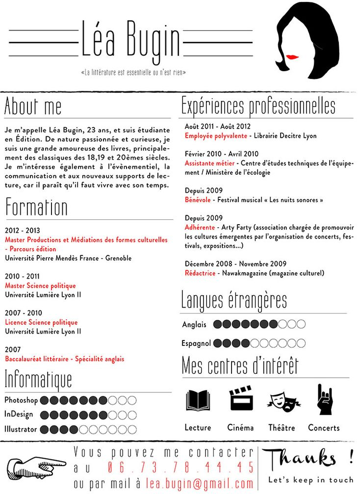 exemple cv bts design graphique