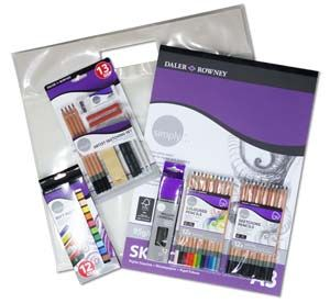 Daler Rowney Simply Sketching Jumbo Art Set
