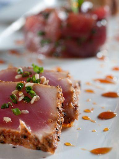 Mi-cuit de thon frais au sésame - Recette de cuisine Marmiton : une recette