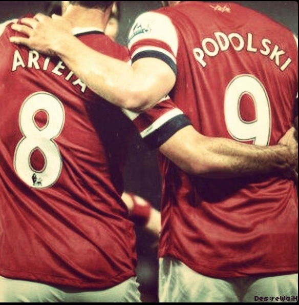 Podolski and Arteta