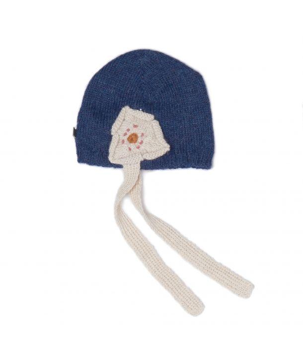 Hat Daisy indigo/white