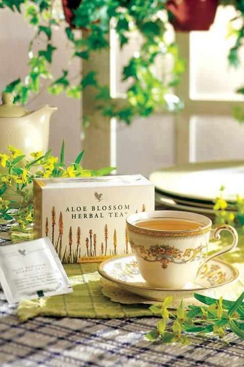 Aloe vera with different herbs from all over the world. Great for decompressing after a long day. For more information about Forever Living aloe blossom tea, see our website at: forevertoujoursAloe.FLP.com