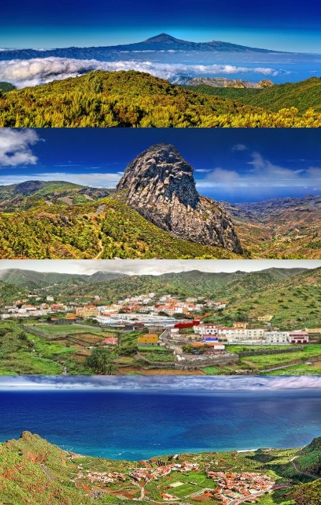 The beautiful landscapes of La Gomera, Canary Islands