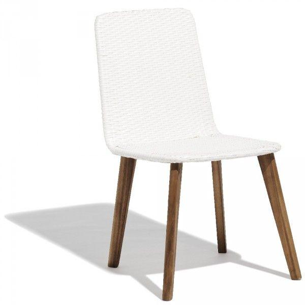 Chaise Bilbao bois naturel et blanc | deco Terasse | Chaise salon de ...