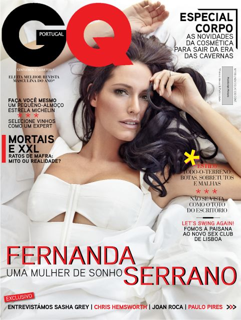 The Gossip Wrap-Up!: Coverin' It: Fernanda Serrano on GQ Portugal