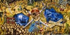 Is the Pirate life for you? Our Pirates backdrop can transform your next event.   www.backdrops.com.au