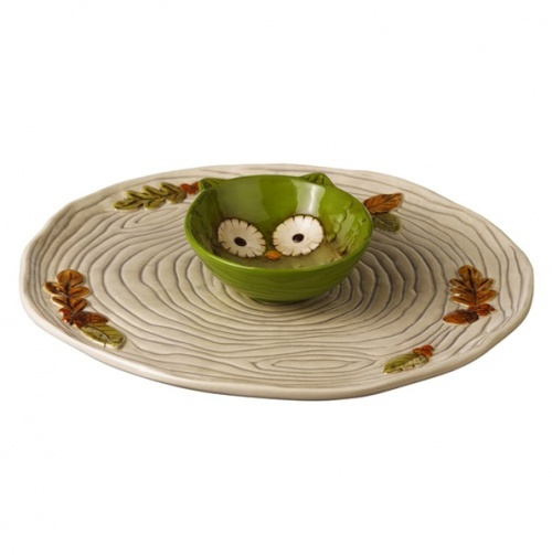 Ceramic Chip and Dip: Owl Chips, Owl Bowls, Green Owl, Owlsmi Obsession, Chips Dips, Hollow Owl, Grassland Roads, Ceramics Chips, Dips Sets