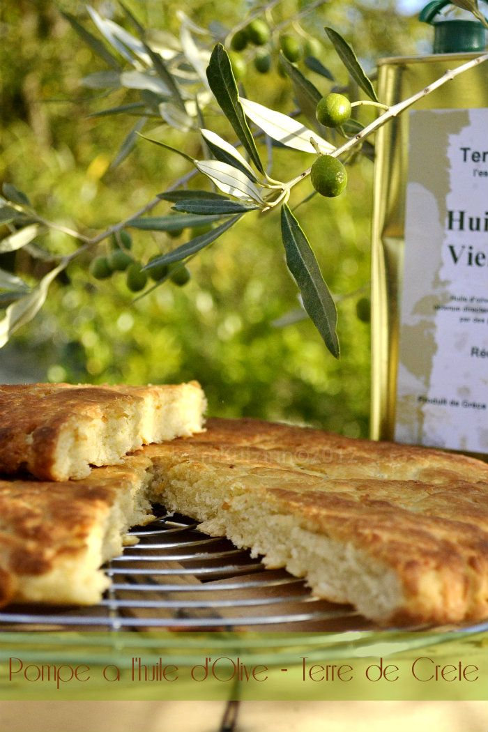 Pompe à l'huile. - Pâte levée, à l'huile d'olive et eau de fleurs d'oranger. Dessert traditionnel provençal. Noël