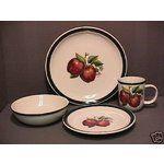 Apple Dinnerware Sets | eBay Image 1 APPLE PATTERN DINNERWARE SET FOR 8 / CASUALS STONEWARE