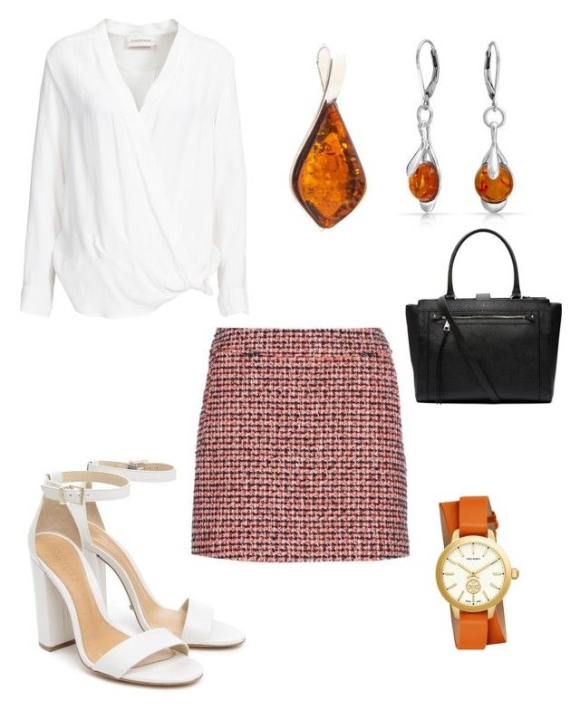 """""""Orange..."""" by lanebuleusedepersephoneia on Polyvore featuring Schutz, dVb Victoria Beckham, By Malene Birger, Tory Burch, Be-Jewelled, Bling Jewelry and Witchery"""