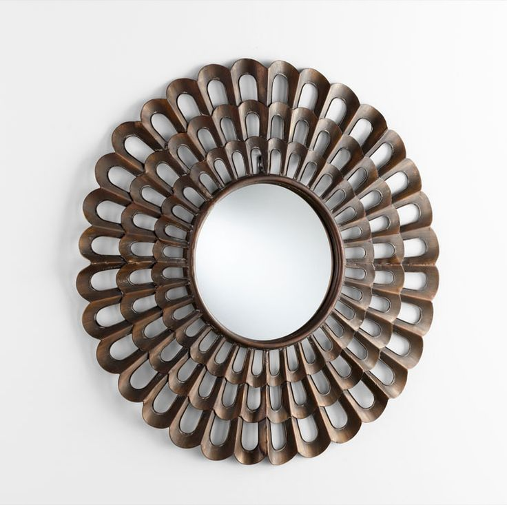 Agoura Mirror By Cyan Design Is Made Of Bronze In Diameter