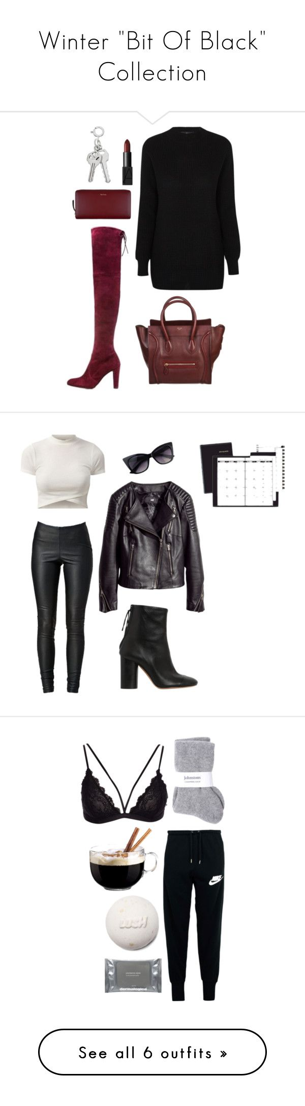 """Winter """"Bit Of Black"""" Collection by shannondoody on Polyvore featuring NARS Cosmetics, CÉLINE, Paul Smith, ACCO, H&M, VILA, Isabel Marant, NIKE, Luminarc and Johnstons"""