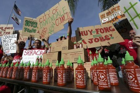 Could be tie in with Scoville heat units: California city delays vote on Sriracha sauce factory