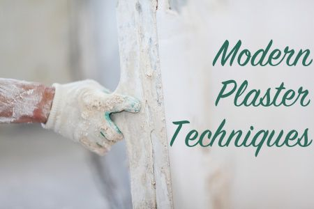 Modern plaster is a simpler way to repair and re-coat old plaster walls and new sheetrock to make it look just like a historic plaster wall.