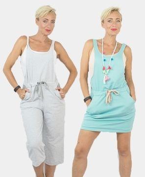 Kombischnitt für Damen mit Kleid, Hose und Latz - Nähanleitung und Schnittmuster via Makerist.de