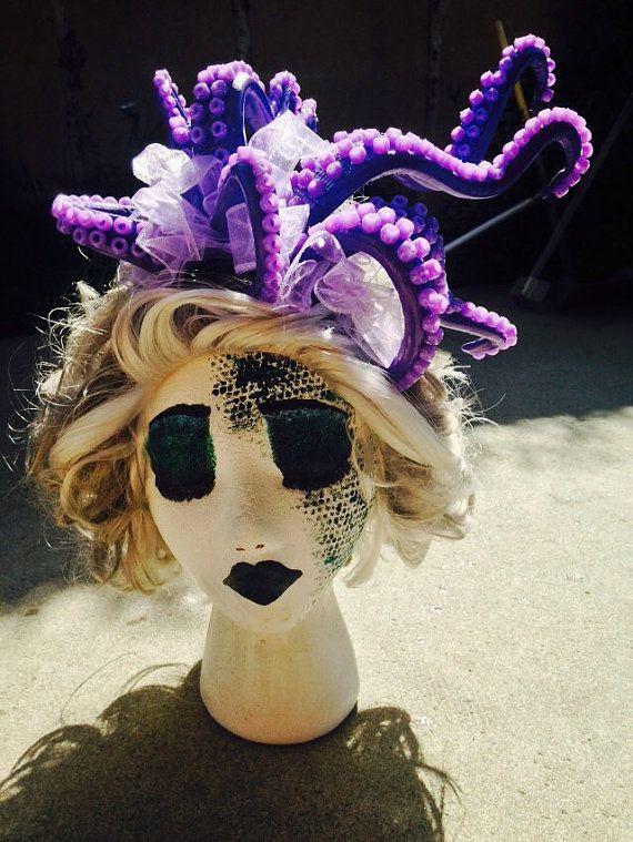 Ursula headpiece / Ursula headband / Disney / Ursula Costume / Octopus / Tentacles headpiece