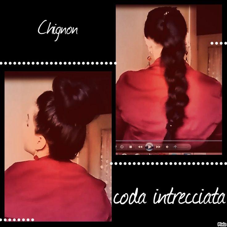 TUTORIAL:Hairstyle Hair/Acconciature Chignon e Coda di cavallo intreccia...