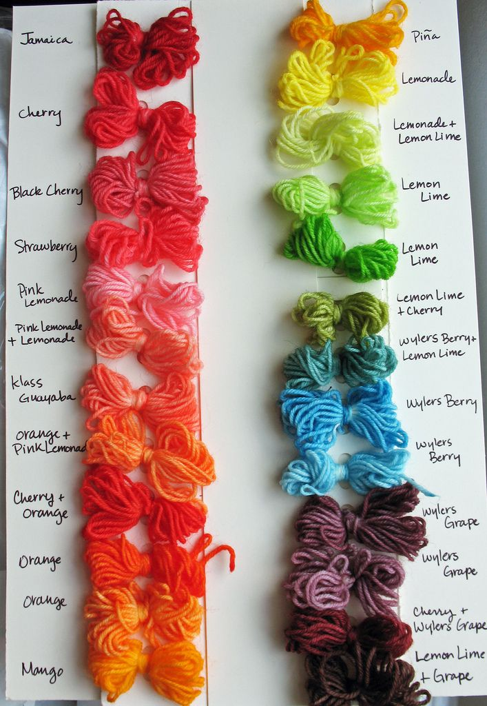 Kool Aid Yarn Color Chart I Really Want To Get That