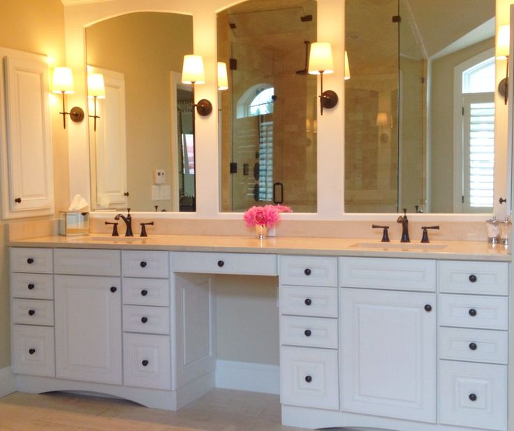 Fantastic Vanity With Make Up Knee Space  Traditional  Bathroom  Dallas  By