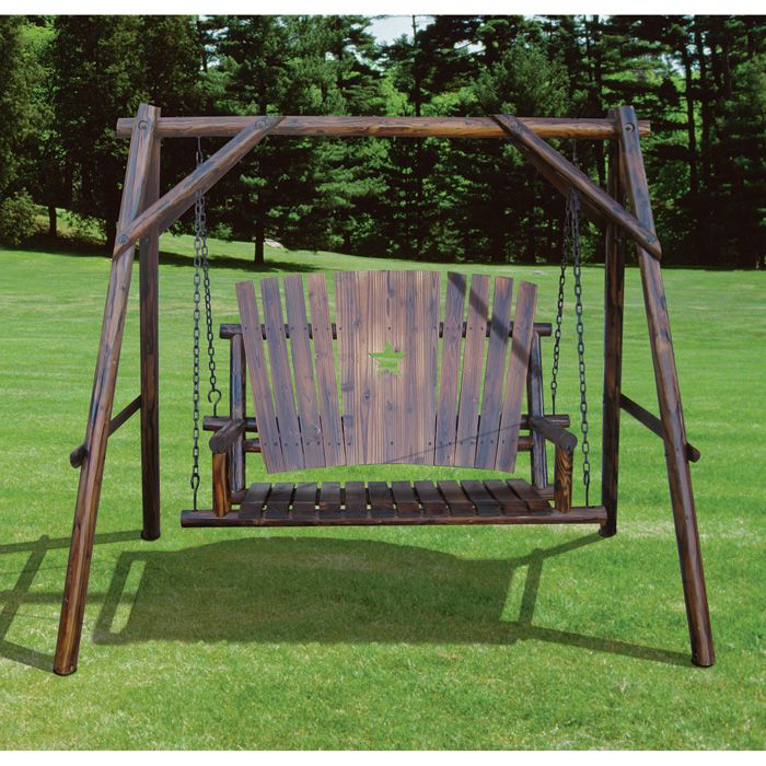 Best 25 porch swing frame ideas on pinterest for Log swing plans