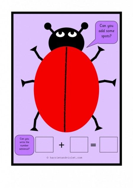 Playdough Mats Ladybird Adding Spots H -1 Early Years (EYFS), KS1, KS2, Primary & Secondary School teaching help, ideas and free resources for the classroom. We love sharing free resources!