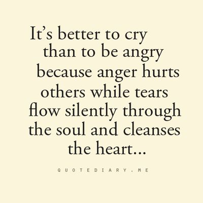 I always wonder y do i cry .. wen i m angry.. now i think.. its d best thing i do ever.. I hate to b angry n i hate people who get angry.. :P