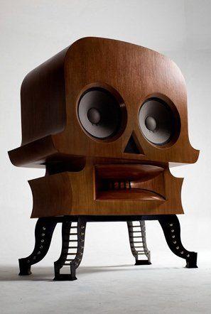 High end audio audiophile   Skull speaker