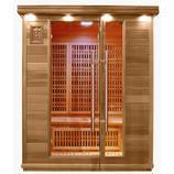 Infraröd bastu för 3 personer. Storlek 1500 x 1200mm passar de flesta hem. Kan även installeras i lägenhet. infrared sauna, ir bastu, infrabastu