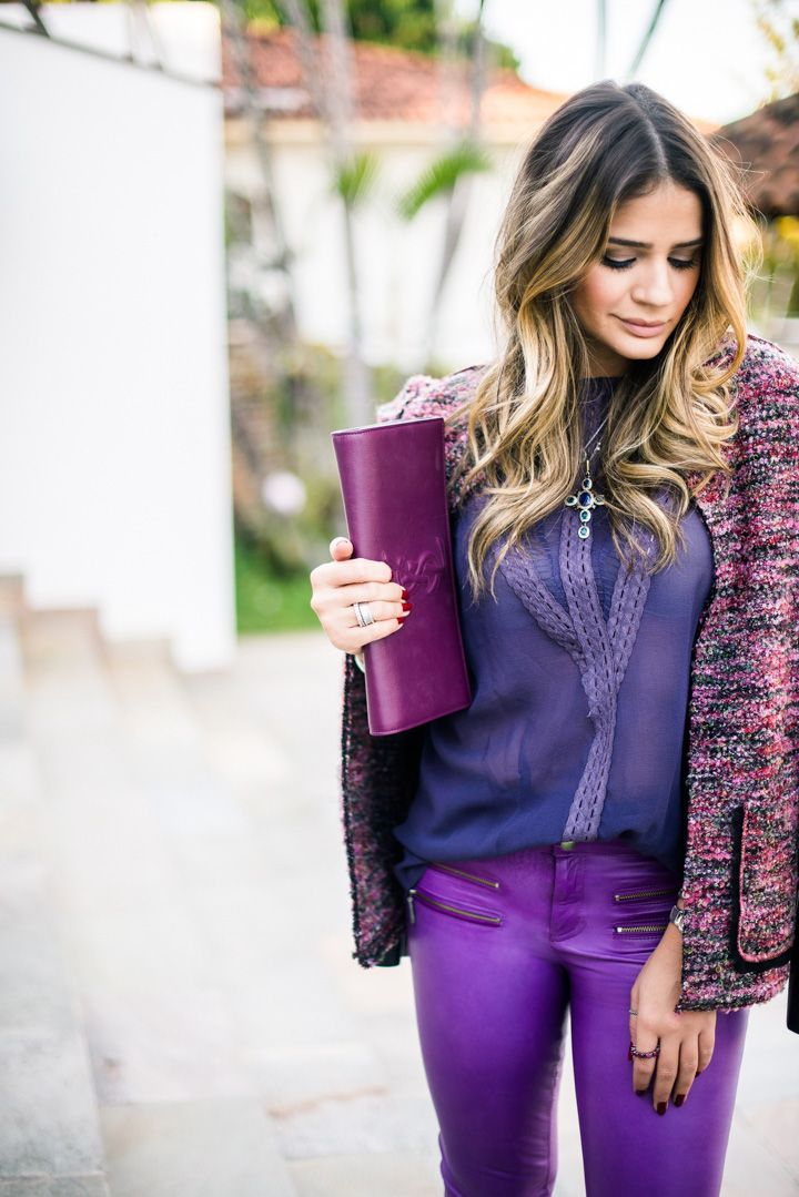 Shades of purple and plum